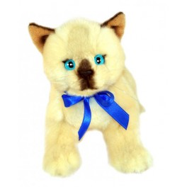 Kitten Siamese Plush Toy Cat Bamboo by Bocchetta Plush Toys