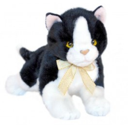 Mango Kitten Black and White Kitten Plush Toy, Bocchetta Plush Toys