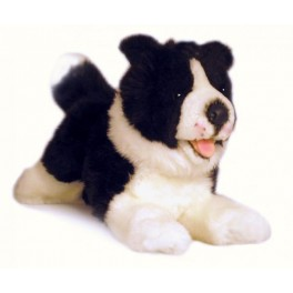 Border Collie Dog  Patch Plush Toy by Bocchetta