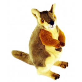 Rock Wallaby & Joey Plush Toy Wattle by Bocchetta
