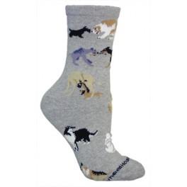 Dog All Over Grey Socks