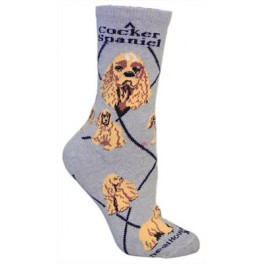 Cocker Spaniel Grey Socks