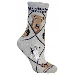 Airedale Grey Socks