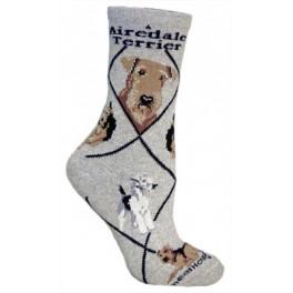 Airedale Grey Socks