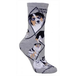 Australian Shepherd Grey Socks