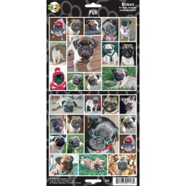 Pug 27 Assorted Stickers