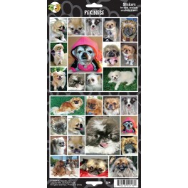 Pekingese 27 Assorted Stickers