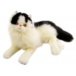 Black & White Cat Woodrow Plush Toy Cat by Bocchetta Plush Toys