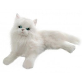 Persian White Cat Plush Toy Snowflake by Bocchetta Plush Toys