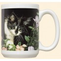 Black and White Cat Mug - First Spring