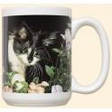Black and White Cat Mug - First Spring