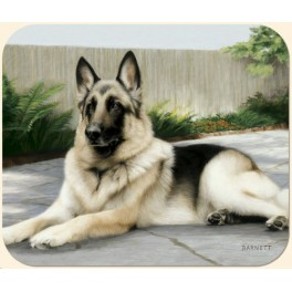 German Shepherd on Porch Mouse Pad