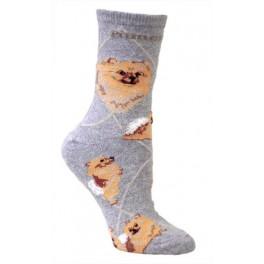 Pomeranian Grey Socks