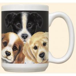 Peeping Puppies Mug