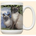 Siamese Cats Mug - China Blue