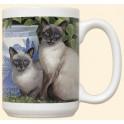 Siamese Cats Mug - China Blue
