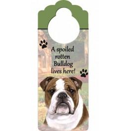 Bulldog Wooden Doorknob Hanger