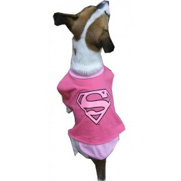 Supergirl Dog Costume Size 4