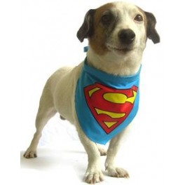 Superman Bandana for Dogs Size Medium
