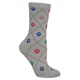 Dog Paws Grey Socks