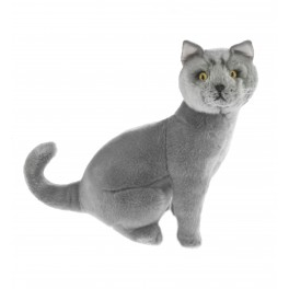 Russian Blue  Plush Toy Cat Greyson by Bocchetta
