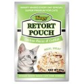 Wanpy Cat Pouch Chicken & Codfish- 85gm packaged in Box of 12 Pouches