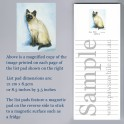 Siamese Cat List Pad