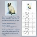 Siamese Cat List Pad