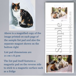 Calico Cat List Pad with Magnet