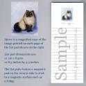Himalayan Cat List Pad