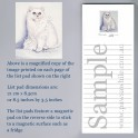 White Persian Cat Listpad