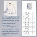 White Persian Cat Listpad