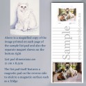 White Persian Cat Listpad with Magnet