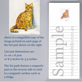 Orange Tabby Cat List Pad