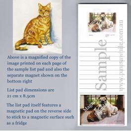 Orange Tabby Cat List Pad with Magnet