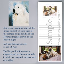 Great Pyrenees Listpad with Magnet