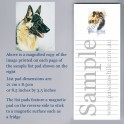 German Shepherd List Pad