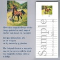 Horse and Dog in Field List Pad
