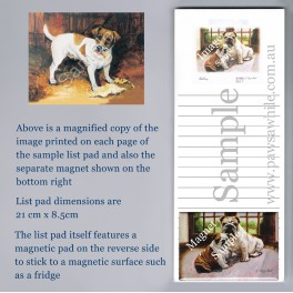Jack Russell Terrier List Pad with Magnet
