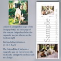 Fox Terrier List Pad with Magnet