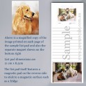 Golden Retriever List Pad with Magnet