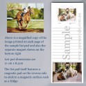 Horse and Jockey List Pad with Magnet