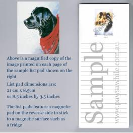 Black Labrador with Scarf List Pad