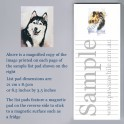 Siberian Husky List Pad