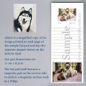 Siberian Husky List Pad with Magnet