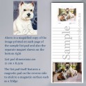 West Highland Terrier Pad with Magnet