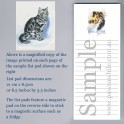 Grey Tabby Cat List Pad