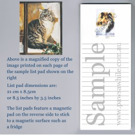 Main Coon Cat List Pad
