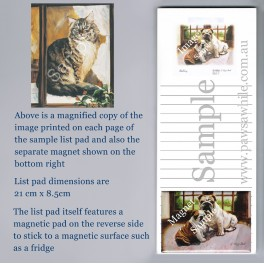 Main Coon Cat List Pad with Magnet