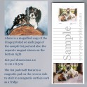 Cavalier King Charles Spaniel List Pad with Magnet